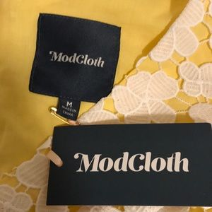 Modcloth Dresses - NWT ModCloth Bliss in Attendance Yellow Lace Dress